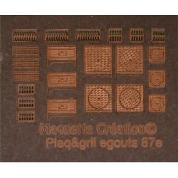 Plaque et grille d'égout 87e